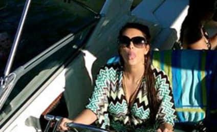 "Kim Kardashian and Kris Humphries Visit ""Vegas on the Lake"""