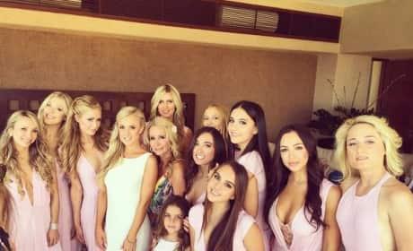 Nicky and Paris Hilton as Bridesmaids