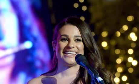 Lea Michele at The Grove