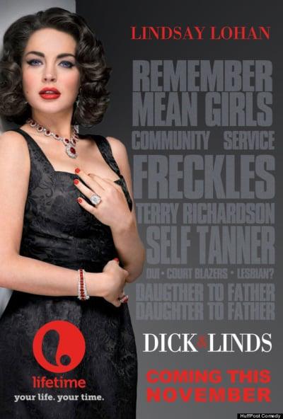 Lindsay Lohan Liz & Dick Poster
