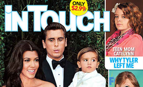Kourtney Kardashian and Scott Disick Tabloid Cover