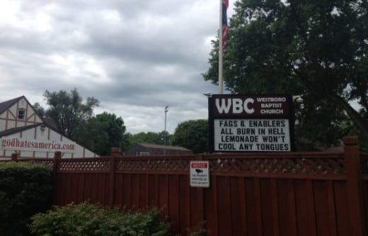 Westboro Baptist Church Sign