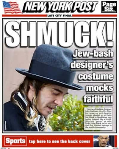 John Galliano Outfit: Anti-Semitic?