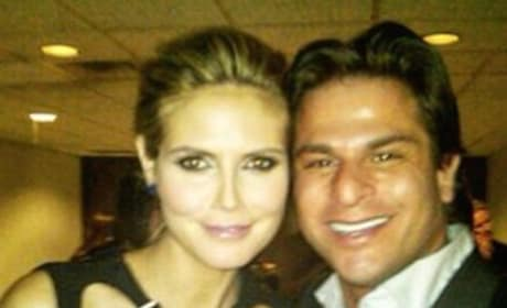 George Ortiz with Heidi Klum
