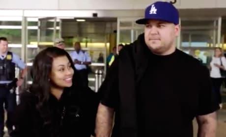 Blac Chyna and Rob Kardashian on Rob & Chyna