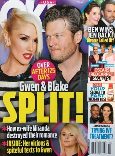 OK! Magazine - Gwen and Blake Break Up...Again