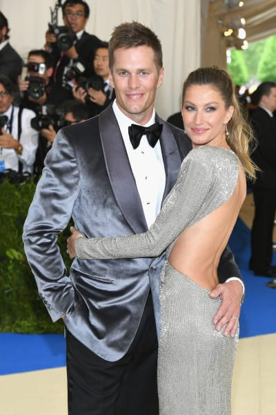 Tom Brady and Gisele Bundchen at 2017 MET Gala