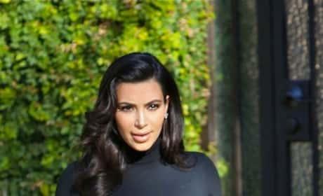 Kim Kardashian Pregnant Pants