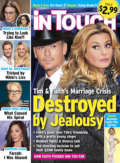 Tim McGraw and Faith Hill Tabloid Cover