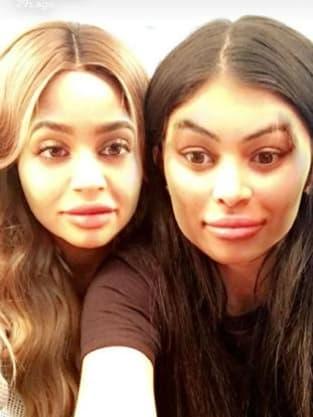 Kylie Jenner and Blac Chyna Faceswap