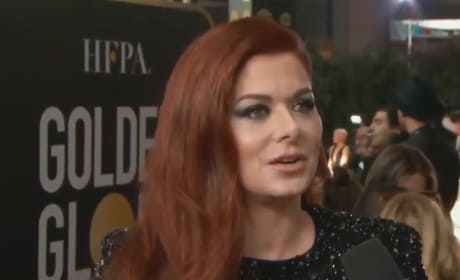 Debra Messing Calls Out E! Over Gender Pay Gap on Red Carpet