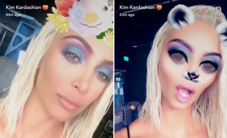 Kim Kardashian: Fun on Snapchat!