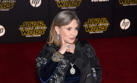 Carrie Fisher at Star Wars Premiere
