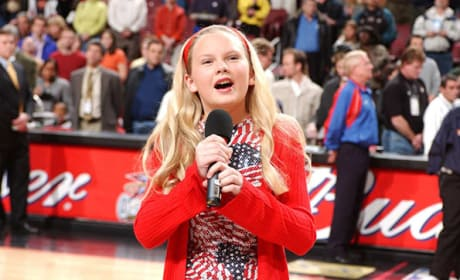 Taylor Sings the National Anthem