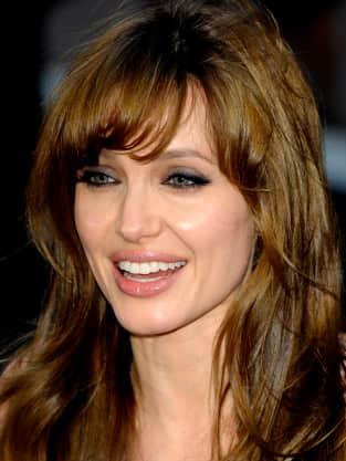 Angelina Jolie Bangs Hairstyle
