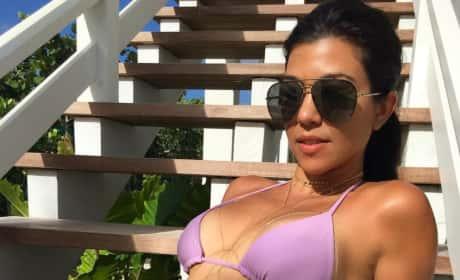 Kourtney Kardashian Bikini Photo on Instagram