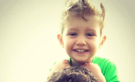 Michael Buble and Son