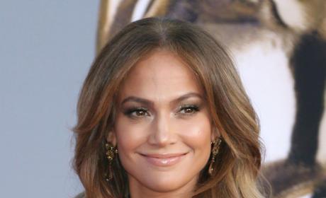 Smiling Jennifer Lopez