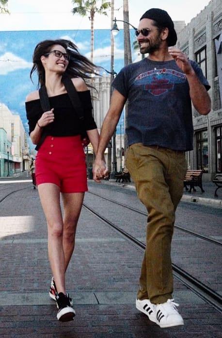 John Stamos, Caitlin McHugh Disney Walk