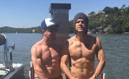 Stephen Amell and Jared Padalecki: Shirtless for a Good Cause!