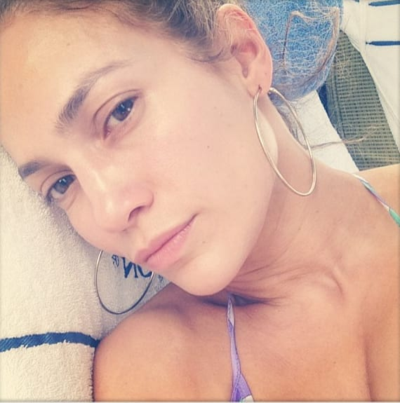 Jennifer Lopez, Makeup Free