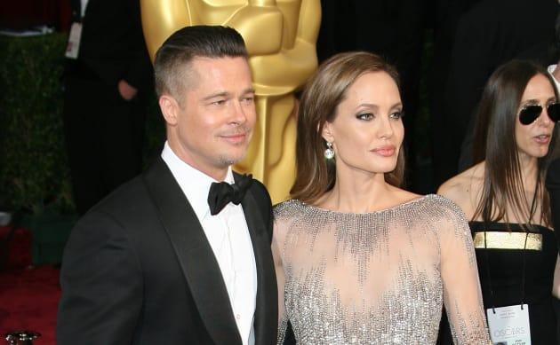 Brad and Angelina at the Oscars