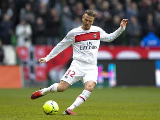 David Beckham on the Pitch