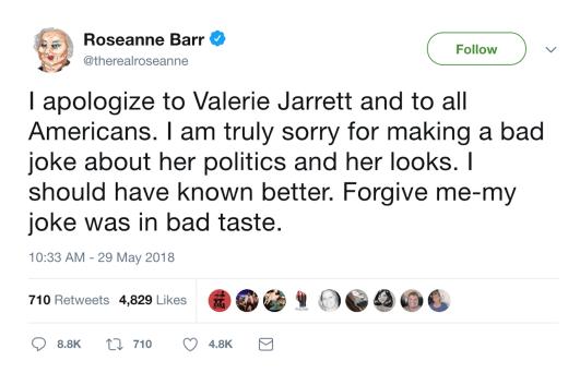 Roseanne Bar tweet