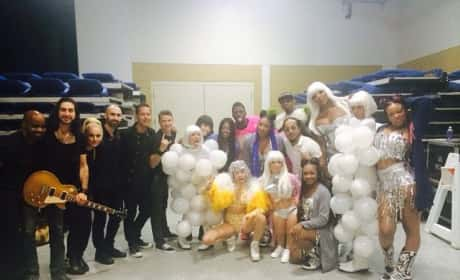 Miley Cyrus and the Bangerz Crew