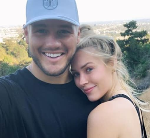 Colton Underwood and Cassie Randolph Throwback