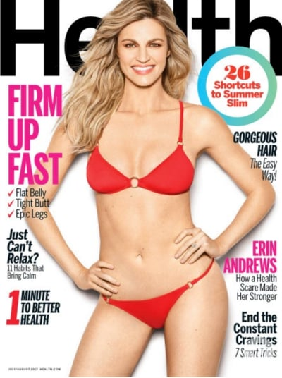 Erin Andrews in Health Magazine