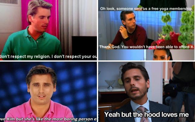Scott disick to kourtney kardashian your clothes suck