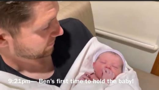 Ben Seewald and Baby