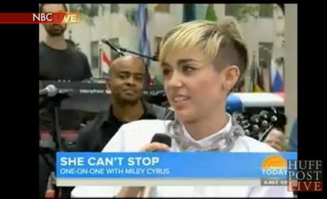 Miley Cyrus Jokes About Sex with Matt Lauer