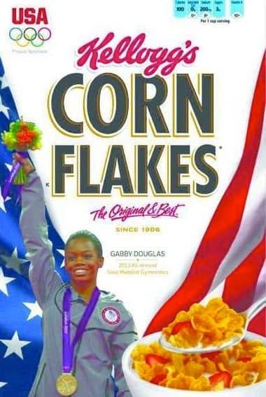 Gabby Douglas Corn Flakes