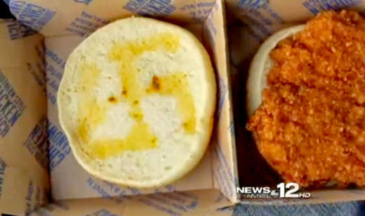 Swastika in a Chicken Sandwich