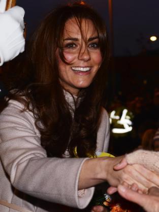 Kate Middleton Shakes Hands