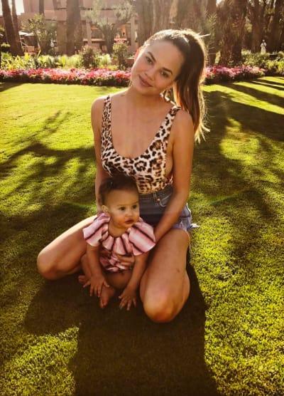 Chrissy Teigen and Cute Daughter