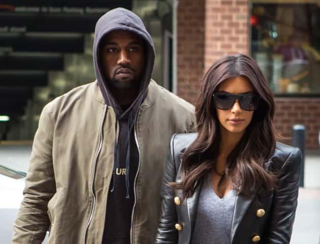 Kim Kardashian and Kanye West Go Dark