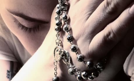 Lady Gaga with Rosary