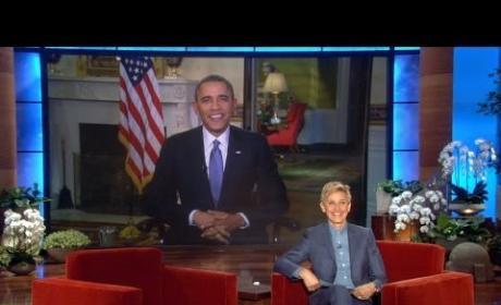 President Obama on Ellen, Part 1