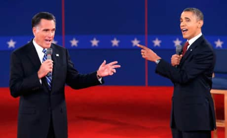 Obama, Romney Debate Photo
