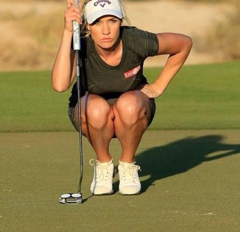 Paige Spiranac: Actually Golfing!