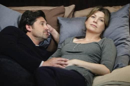 Meredith and Derek on Grey's Anatomy