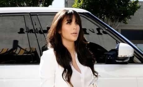 Kim Kardashian Out of Her Car