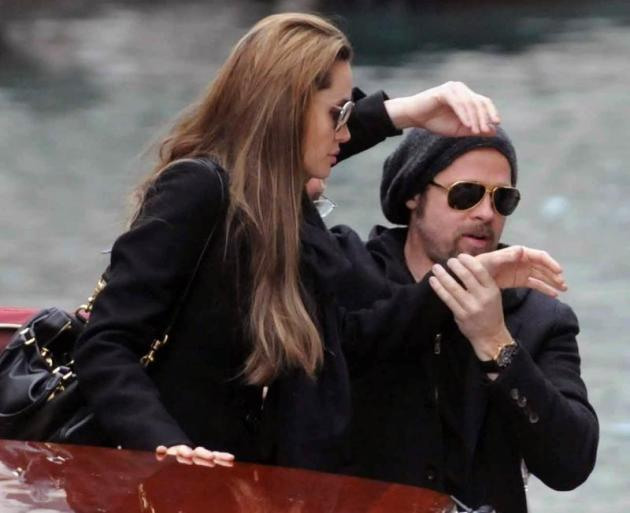 Brad and Angie in Venice