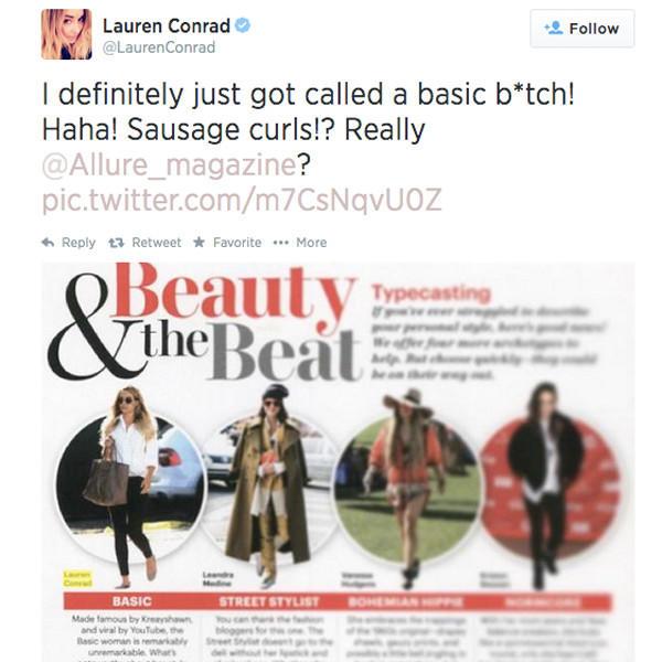 Lauren Conrad: Basic!