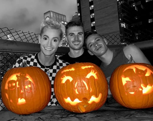 Frankie Grande, Daniel Sinasohn, and Mike Pophis on Halloween