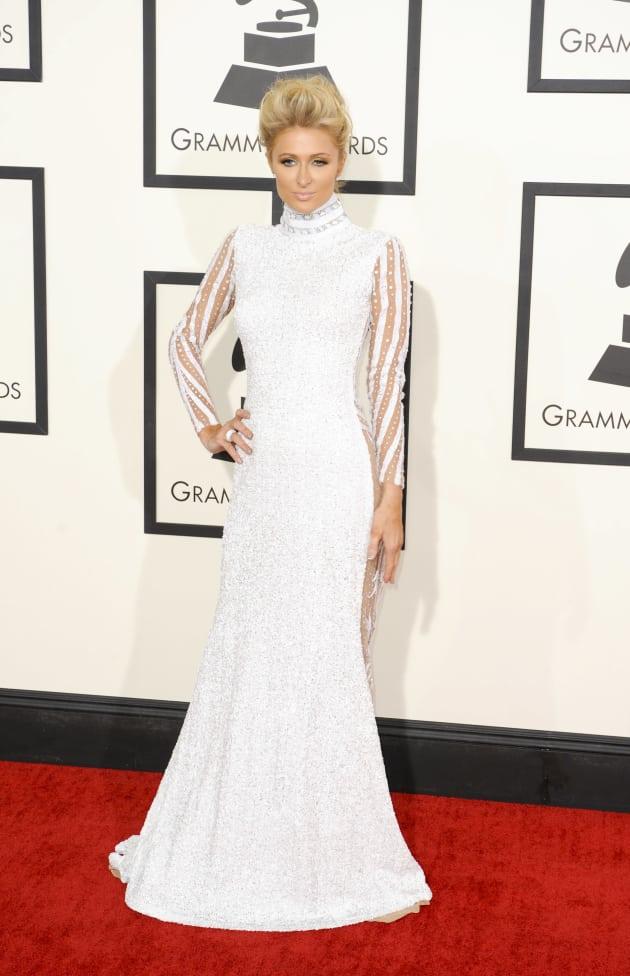 Paris Hilton at the 2014 Grammys