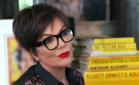 Kris Jenner at Her Computer